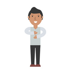 Young man cartoon vector