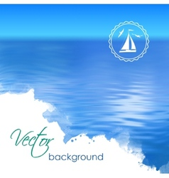 Abstract Blue Water Background vector image
