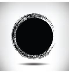 Black grunge circle background vector image