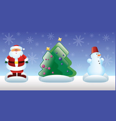 christmas and new year toys vector image