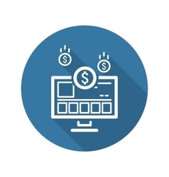 Income store icon business concept vector