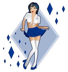 Lady Luck of Diamonds vector image