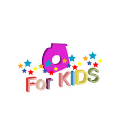 logo with the inscription for kids object art vector image vector image