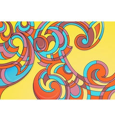 Modern curly art vector image vector image