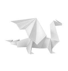 Origami dragon vector image vector image