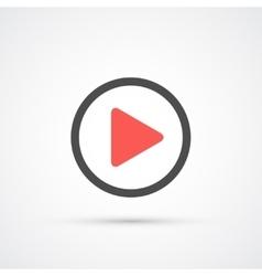 Play trendy icon vector image vector image