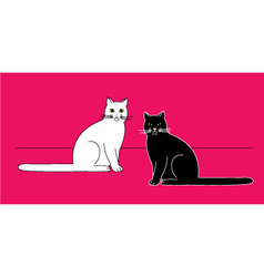 Sitting cats vector image vector image