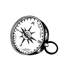 vintage compass engraving vector image