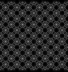 white flower star japanese seamless on black vector image vector image