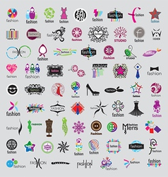 biggest collection of logos of fashion vector image