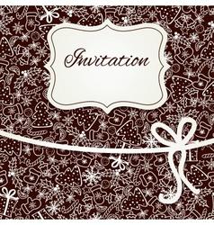 Christmas invitation card vector image