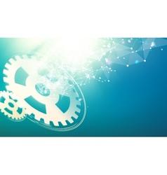Gear wheells vector image