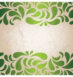 Green vintage wallpaper vector