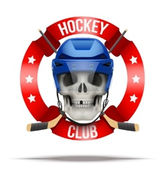 Ice hockkey club or team badges and labels logo vector image