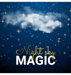 Magic Space cloud Fairy Dust Abstract Universe vector image