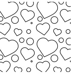 romantic heart love pattern image vector image vector image