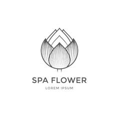Spa flower logo vector image vector image