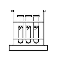 test tube rack laboratory chemistry equipment line vector image