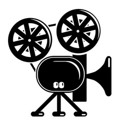 video camera icon simple black style vector image vector image