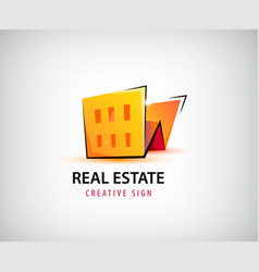 3d real estate building house logo vector image