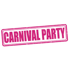carnival party stamp vector image