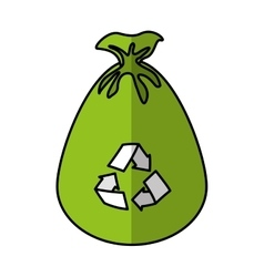 garbage bag isolated icon vector image vector image