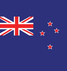 new zealand flag for independence day and vector image vector image