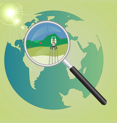World geodetic system vector