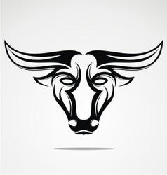 Bulls Head Tribal vector image