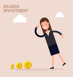 businessman or manager search of money and vector image vector image