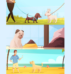dog banners set vector image