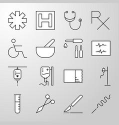 Medical hospital health thin line icon vector