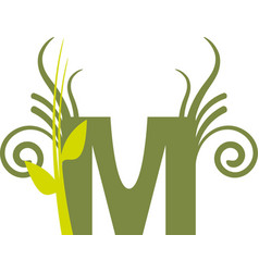 nature m vector image vector image