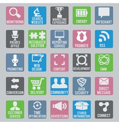 Set of seo icons - part 2 vector image vector image