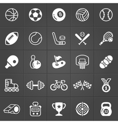 Sport and games icons trendy pack vector image
