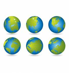 world map 3d globe series vector image vector image
