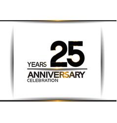 25 years anniversary black color simple design vector