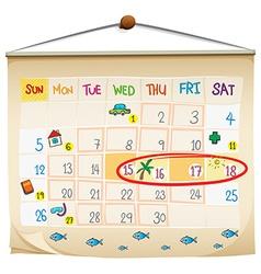 A calendar vector