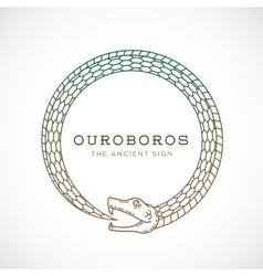 Abstract ouroboros snake symbol sign vector