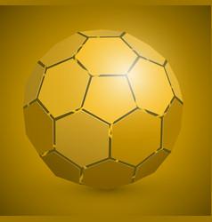 Abstract soccer 3d ball yellow vector