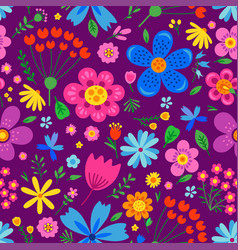 amazing floral seamless pattern vector image