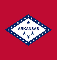 Arkansas state flag vector