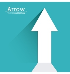 Arrow shape design vector image