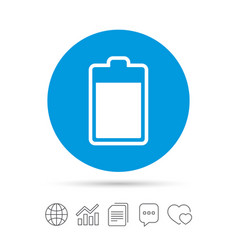 Battery level sign icon electricity symbol vector