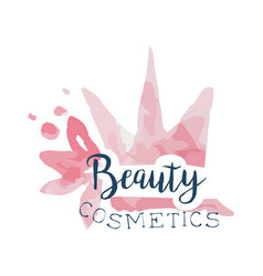 Beauty cosmetics logo label for beauty studio vector