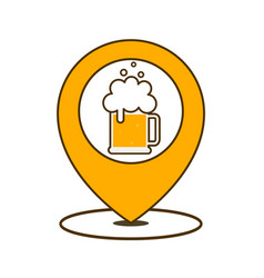 beer point icon vector image