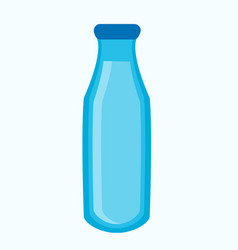Blue bottle with liquid vector
