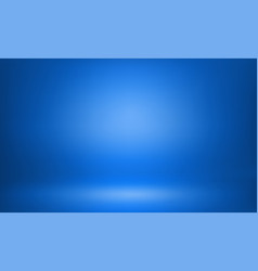 Blue studio 3d room lightbox light background vector