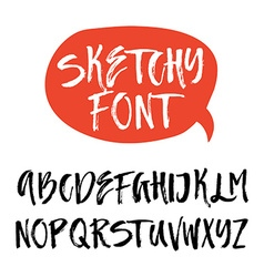 Brushy Font vector
