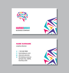 business visit card template with logo - concept vector image